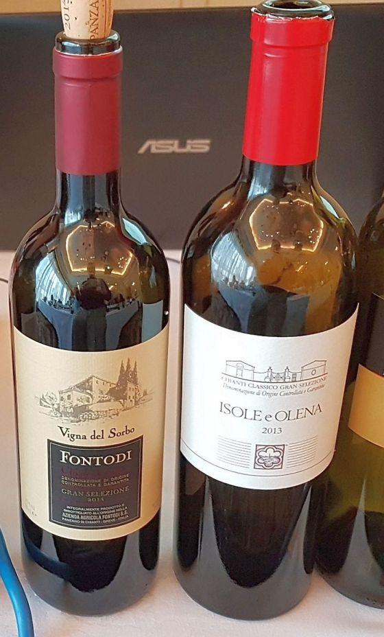 Fontodi Chianti Classico DOCG Gran Selezione Vigna del Sorbo and Dievole Chianti Classico DOCG Gran Selezione Vigna di Sessina 2015 wines