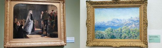 A painting of Mary Queen of Scots and a landscape by Monet at the Kelvingrove Art Gallery and Museum