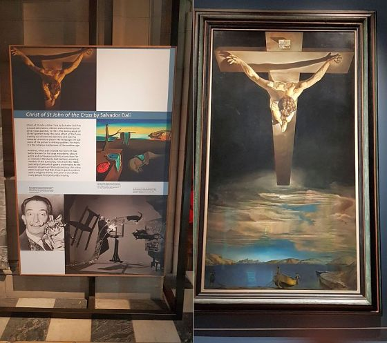 Dali's Christ of St John of the Cross at the Kelvingrove Art Gallery and Museum