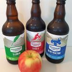 3 apple ciders from Woodward Cider Co in Kamloops