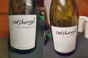Coolshanagh Chardonnay 2016 and Pinot Noir 2016 from the BC Okanagan