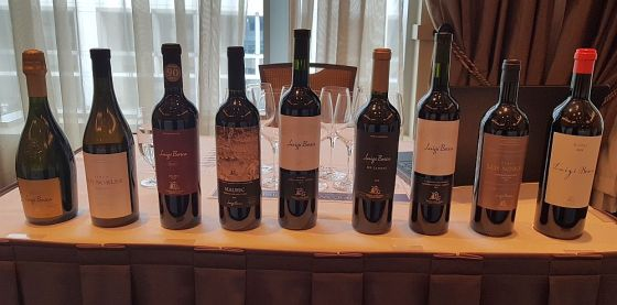 Flight of Luigi Bosca wines
