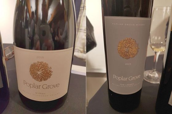 Poplar Grove Syrah 2015 and The Legacy 2015