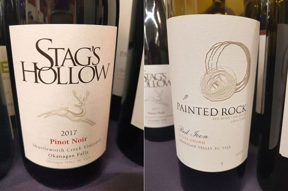 Stag's Hollow Winery and Vineyard Shuttleworth Creek Pinot Noir 2017 and Painted Rock Estate Winery Red Icon 2016