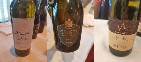 Giusti Wine Pinot Grigio Delle Venezie Longheri DOC 2018, Giusti Wine Asolo Prosecco Superiore Brut DOC and Zeni 1870 Lugana DOC Vigne Alte 2018