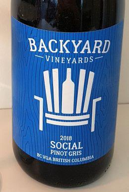 Backyard Vineyards Social wine label