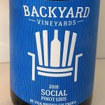 Backyard Vineyards Social wine label