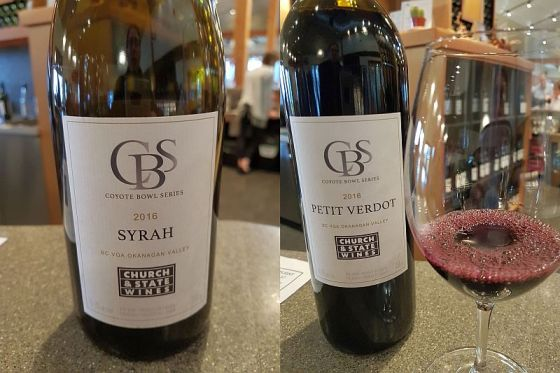 Church & State Wines Coyote Bowl Series Syrah and Petit Verdot 2016 wines