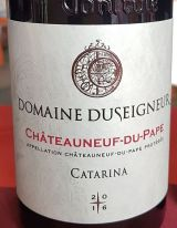 Domaine Duseigneur label with drawing of Catarina in background