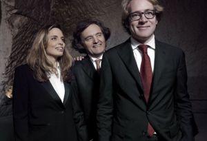 Pierre-Emmanuel, Vitalie, and Clovis Taittinger (left to right)