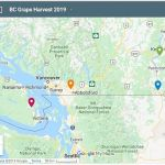 BC 2019 grape harvest winemaker locations
