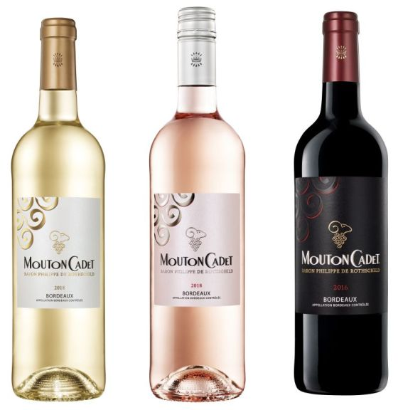 Mouton Cadet White and Rose 2018 and Mouton Cadet Red 2016 wines