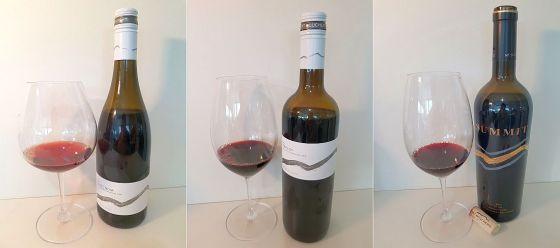 Mt. Boucherie Pinot Noir 2017, Merlot 2017, and SUMMIT 2016 wines