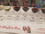 Flight of wines at The Global Cru seminar at VanWineFest 2020