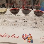 Flight of wines at The Global Cru seminar at VanWineFest 2020