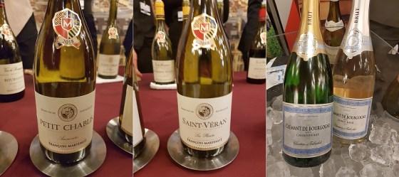 Francois Martenot Petit Chablis and Saint Veran 2018, and Francois Martenot Carton et Trebuchet Cremant de Bourgogne Chardonnay and Pinot Noir Rose 2017 wines at VanWineFest 2020