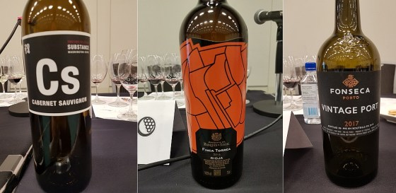 Wines of Substance Substance Vineyard Collection Jacks Cabernet Sauvignon 2014, Marqués de Riscal Finca Torrea 2016, and Fonseca Vintage Port 2017 at The Global Cru seminar