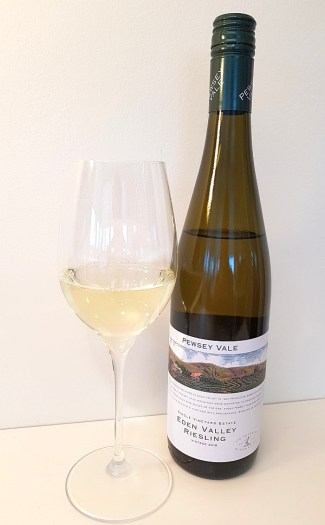 Pewsey Vale Single Vineyard Estate Eden Valley Riesling 2018 with wine in glass