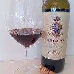 Ricasoli Brolio Chianti Classico DOCG 2017 with wine in glass