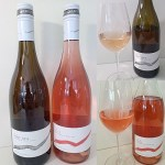 Mt. Boucherie Estate Winery Pinot Gris and Rose 2019 with wines in glass