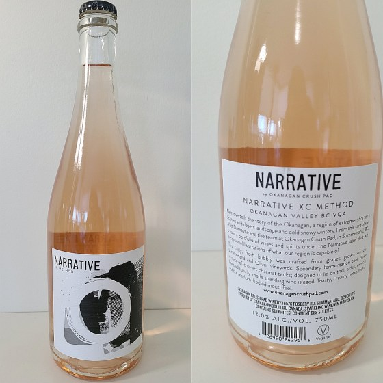 Narrative XC Method NV sparkling wine