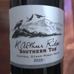 McArthur Ridge Southern Tor Central Otago Pinot Noir 2019