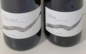 Mt. Boucherie Pinot Noir and Syrah 2018 labels