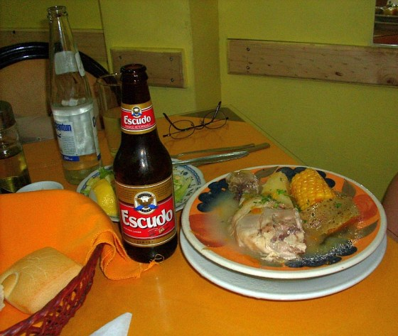 A traditional meal in Chile