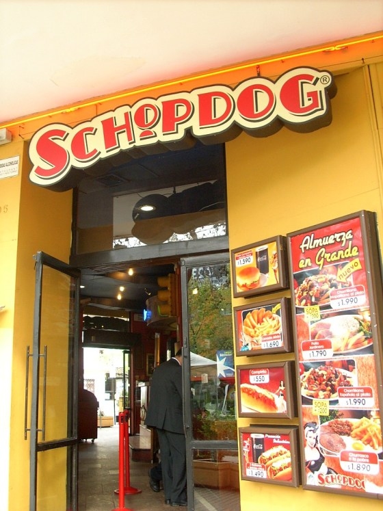 SchopDog is the competitor to Domino for hotdogs in Chile