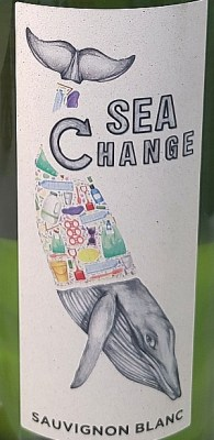 Sea Change wine label