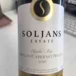 Soljans Hawke's Bay Merlot Cabernet Malbec 2016 label