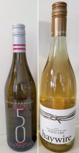 50th Parallel Estate Pinot Gris 2019 and Haywire Pinot Gris 2019
