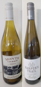 Monte Creek Ranch Chardonnay 2018 and Harper's Trail Thadd Springs Vineyard Pioneer Block Riesling 2019