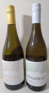 Spearhead Chardonnay Clone 95 2018 and Pinot Gris Golden Retreat Vineyard 2019 bottles
