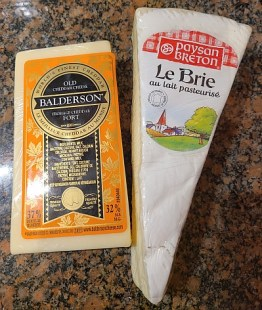 Balderson Old Cheddar and Paysan Breton Le Brie cheeses