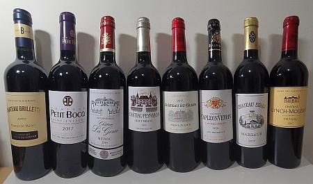 Medoc 8 appellation bottles flight of wine sm