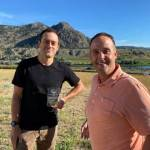 Winemaker Galen Barnhardt and General Manager Erik Fisher with the 2020 All Canadian Wine Champions Founder's Award for Best Overall Performance.