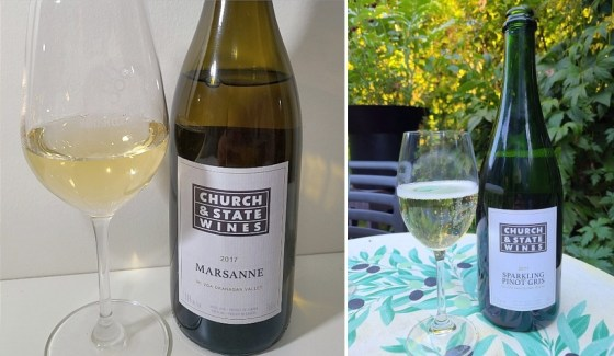 Church & State Marsanne 2017 and Sparkling Pinot Gris 2017 wines