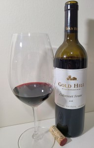Gold Hill Winery Cabernet Franc 2016 with wine in glass