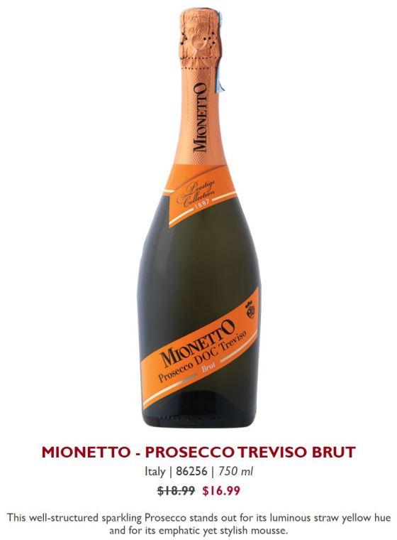 MIONETTO - PROSECCO TREVISO BRUT