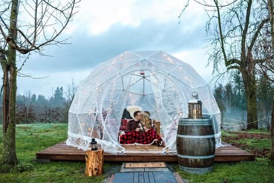 Singletree Winery's Di Vine Dome. (Photo credit Megan Ashley Creative)