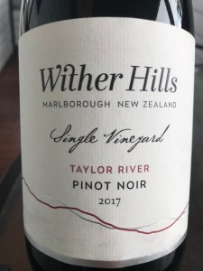 Wither Hills Single Vineyard Taylor River Pinot Noir 2017