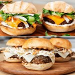 Jerk chicken burger or bahn mi cheese burger