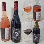 Scorched Earth Winery Bearly Blushing Rosé of Pinot Noir 2019 and Merlot 2016 wines