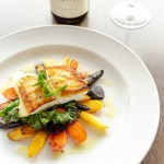 Seared Halibut with Sea Star Vineyards Stella Maris 2020 (PC Emrys Horton EPH6605)