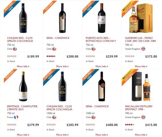 BC Liquor Stores 100 anniversary rare, premium, collectible wines and spirits 2