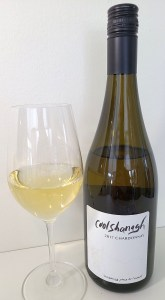 Coolshanagh Chardonnay 2017 with wine in glass