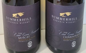 Summerhill Pyramid Winery Estate Grown Biodynamic wine labels (Do you see the DEMETER logo?)