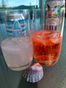 Lulu Spritz and BEACH BUM Vodka Cooler poured in glasses