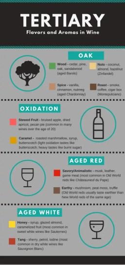 Tertiary Aromas in wines (graphic courtesy blog.vinfolio.com)